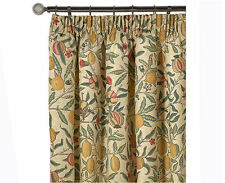 William Morris Fruit Major Pair Lined Curtains 190cm x 183cm