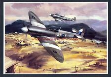 AVIATION ARTIST Michael Turner Mounted Print 'SPITFIRE MK VIII'. Free UK Post