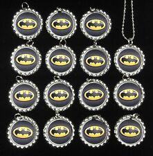 Lot of 15 BATMAN SUPER HERO Bottle Cap NECKLACES for Party Favors Set 1 (S207)