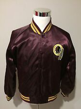 Vintage 80's Washington Redskins Chalkline NFL Satin Bomber Jacket Sz Large