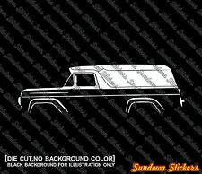 2X Car silhouette stickers - for Ford F-100 Panel Van classic truck (1957-1960)