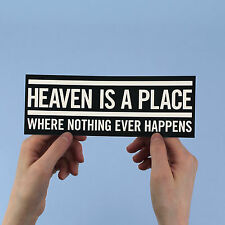 "Talking Heads Bumper Sticker! ""Heaven"", David Byrne, new wave, 77, brian eno,"
