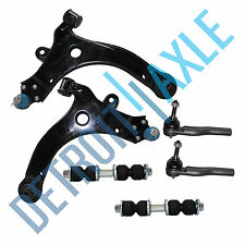 6pc Kit: 2 Front Lower Control Arm & Ball Joint + 2 Tie Rod + 2 Sway Bar Link