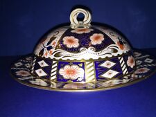 Aynsley England IMARI Pallet Bone China Gold Cobalt Covered Muffin Dish Lidded