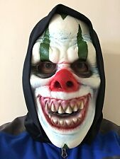 ADULT CHILD HALLOWEEN SCARY CLOWN MASK SOFT FOAM FANCY DRESS BLACK HOODED MASK