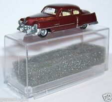 MICRO PRALINE HO 1/87 CADILLAC 54 CADDY LIMOUSINE MARRON FONCE METAL IN BOX 1