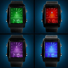 Womens Mens Modish Digital LED Exquisite Chronograph Quartz Sport Wrist Watch