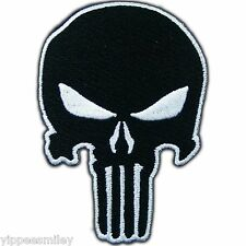 Skull Punisher Army Motorcycle Biker Rider Military Seal Sew Iron on Patch #0115