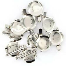 10x Extra Large Dual Brooch Pin Back Base + Hair Clip 30mm Diameter DIY Findings
