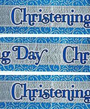HAPPY CHRISTENING BOY PACK OF 3 BANNERS BLUE FOIL WALL DECORATIONS (BGC) 04