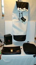 "roots-""POLO"" BY RALF LAUREN.ORIGINAL ALL LEATHER WRISTLET/CLUTCH /BEACH BAG/BOX"