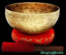 "New Tibetan Singing Bowl: Thadobati 7 5/8"", Contemporary, F#-6 & B+10. VIDEO"
