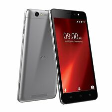 Lava X28 Black Grey 4G (5.5 HD Display, 8GB ROM, Android 6.0 Marshmallow)