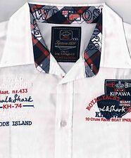Camicia shirt hemd Paul & Shark Yachting Kipawa Oslo cotone ricamata XL (46) 18¼