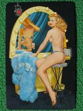 Burlesque Striptease Showgirl Blonde Bombshell Swap Card Vintage 1950's MINT WOW
