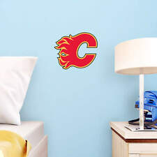 "Calgary Flames 12"" x 10"" FATHEAD NHL Team Logo Teammate Vinyl Wall Graphics"