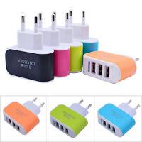 3.1A 3-Port USB AC Ladegerät Adapter Netzteil Universal Netzstecker für iPhone