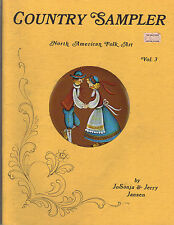 Country Sampler North American Folk Art Book by Jo Sonja & Jerry Jansen~OOP~1982