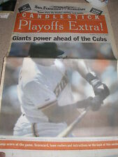 October 1989 San Francisco Examiner - NLCS Extra - Giants v Chicago Cubs A's