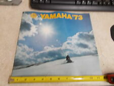 OEM Yamaha Brochure Catalog Original Full Line 1973  LIT-12130