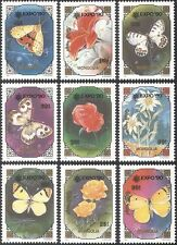 Mongolia 1991 Butterflies/Moths/Insects/Flowers/Plants/Nature/Expo 9v set n42242
