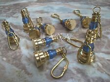 Antique Nautical Brass Lamp Keychain Christmas Gift Lot Of 10