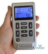TENS machine PHYSIO Combo pain relief + muscle training 4+ 4 large pads 3yr war