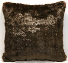 "1 16"" Faux Fur Chocolate Brown Mink Designer Throw  Pillow"