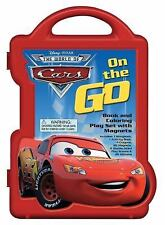 Cars: On the Go Book and Coloring Play Set with Magnets Book and Magnetic Pla