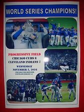 Chicago Cubs 8 Cleveland Indians 7 - Cubs win World Series - souvenir print
