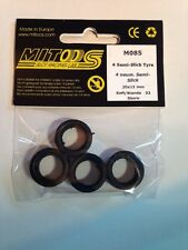 Mitoos M085 Semi-Slick Tyres x 4 - 20 x 11mm - 32 Shore - New