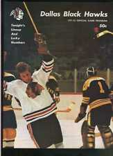 1971-72 January 1st Dallas Black Hawks Tulsa Oilers hockey program  MBX44