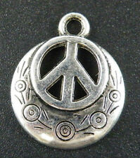60pcs Tibet Silver Nice Peace Sign Charms 24x20x3mm 12724