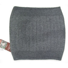 LOOF Cashmere Wool Body Waist Warmer Support Back Warmer Waistband Unisex -Gray