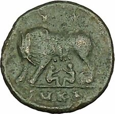 "Constantine I The Great Ancient Roman Coin Romulus & Remus ""Mother"" wolf i40079"