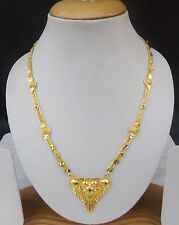 South Indian GoldPlated Long Chain Pendant Ethnic Bridal Jewelry Mangalsutra Set