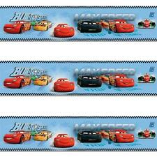 GALERIE OFFICIAL DISNEY CARS LIGHTNING MCQUEEN CHILDRENS WALLPAPER BORDER BLUE