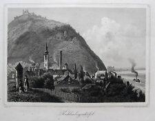 Krüger: Original Stahlstich Kahlenbergerdörfl Wien Döbling Österreich; 1856