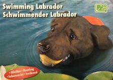 Labrador Figur Schwimmender Hund für den Gartenteich