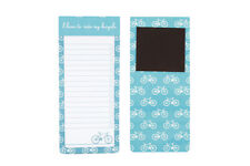 I Love to Ride my Bicycle Fabric Magnetic Notepad  BNWT