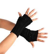 Unisex Women Ladies Knitted Fingerless Gloves Winter Warm Wrist Arm Hand Mitten