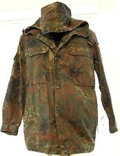 VINTAGE WINNEN GERMAN CAMOUFLAGE MAR PAT WOODLAND MILITARY HOOD JACKET COAT LG