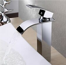 Modern Chrome Designer Bathroom & Kitchen Basin Mixer Tap For Sink