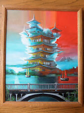 "Amazing Original Oil Painting, ""Pagoda Cloud 5"" 16x20 inch canvas"