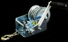 Heavy Duty 2500LB Boat Hand Winch Hand Crank Manual RV Trailer Winch AUTO MARINE
