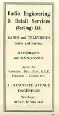 1958 Radio Engineering & Retail Services Barking Ferguson Pye Ferranti Ad
