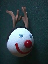 Miniature Jack in the Box as a Reindeer Fast Food Christmas Antenna Ball