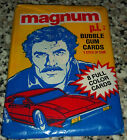 UNOPEN Pack of 8 - 1983 Donruss Magnum P.I. Tom Selleck Bubble Gum Trading Cards