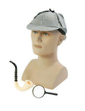 Detective Disguise Kit Hat Pipe Glasses Sherlock Holmes Spy Fancy Dress