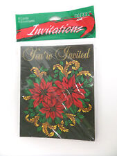 """Christmas Dinner / Party Invitations """" You're Invited """" 8-pack w/ envelopes"""
